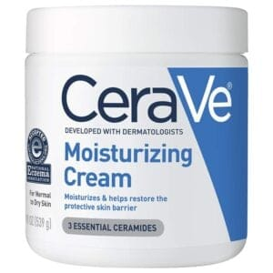 jar of CeraVe Moisturing Cream 19oz