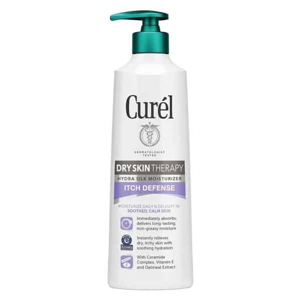 curel hydra silk dry skin itch relief moisturizer 12oz