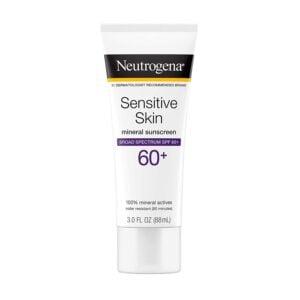 Neutrogena Sensitive Skin Sunscreen Lotion with SPF 60, 3oz