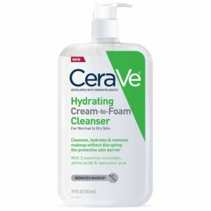 CeraVe Hydrating Cream-to-Foam Cleanser, 19oz