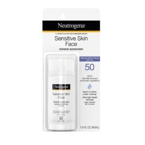 Neutrogena Sensitive Skin Liquid Sunscreen, 1.4oz (1)