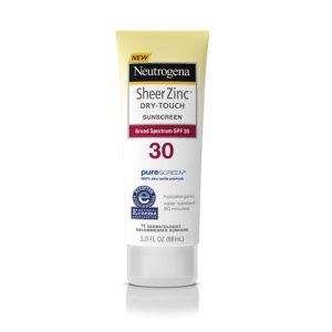Neutrogena Sheer Zinc Dry-Touch Sunscreen, SPF 30, 3oz