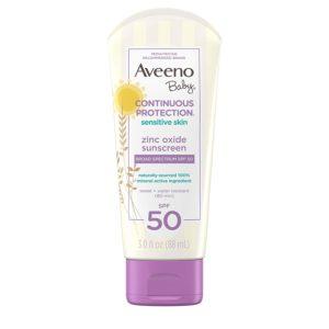 Aveeno Baby Sensitive Skin Sunscreen, SPF 50, 3oz