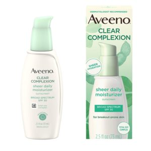 Aveeno Clear Complexion Sheer Moisturizer, 30 SPF, 2.5oz