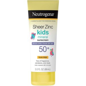 Neutrogena Sheer Zinc Kids Sunscreen, SPF 50, 3oz