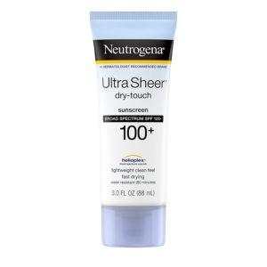 Neutrogena Ultra Sheer Sunscreen, SPF 100, 3oz